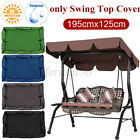 """Waterproof Anti-UV Patio Swing Top Cover Canopy Replacement Outdoor 77""""x49"""" US"""