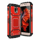 For Galaxy J3 Orbit/Star/V 2018 Case Metal Magnetic Support Cover+Tempered Glass