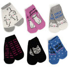 6 Pairs Sof Sole Women's Socks Novelty Pun No Show Sock Low Cut Ankle Funny Cute