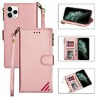 For Iphone 11 Pro Max Se Xs 8/7/6s Plus Leather Wallet Case Card Slot Flip Cover