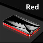 Ultra-thin 900000mAh Power Bank 2USB Portable External Battery Charger For Phone