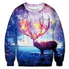 Couples Ugly 3D Print Sweater Sweatshirt Womens Mens Xmas Winter Pullover Jumper