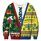 Couples Christmas Funny Ugly Sweater Sweatshirt Womens Mens Xmas Jumper Pullover