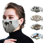 Penguin Hedgehog Horse Print Cotton Face Masks Washable Funny Animal Masks Reuse