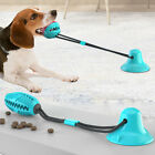 Pet Dog Puppy Molar Bite Toy Tug Rope Ball Chew Toys Tooth Cleaning Suction Cup