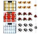 6 Christmas Crackers Luxury Gold Red Or Silver White And 6 Matching Napkin Rings