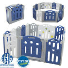 16 Panel Baby Playpen Kids Foldable Safety Play Center Home Pen Fence w/Swing