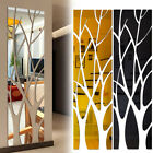 Tree Shape 3d Acrylic Mural Mirror Surface Sticker Removable Wall Art Home Decor