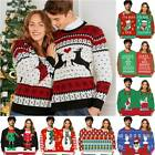 Couples Funny Two Person ▪ Snowman Pullover Top * Ugly Sweater Jumper