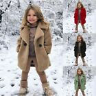Toddler Baby Kids Girls Winter Windproof Solid Coat Thicken Warm Jacket Outwear