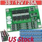 US Balance Board Li-ion Lithium Battery Protection 18650 Charger PCB BMS 3S 25A