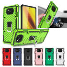 For Xiaomi POCO X3 NFC Shockproof Hybrid Armor Ring Holder Kickstand Case Cover
