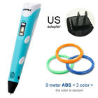 3D Printing Pen Drawing Crafting Modeling With LCD Screen+ PLA Filament Refill