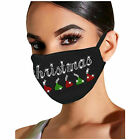 Christmas Breathable Face Mask Reusable Bling Coverings
