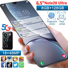 """6.5"""" Fhd+ 12gb+512gb Unlocked Android 10 Smartphone Mobile Cell Phone Dual Sim"""