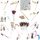 Interactive Sisal Balls Feather Cat Stick Teaser Wand Playing Rod Cat Toy V$;UK