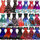 Women's Retro Rockabilly Dress Christmas Evening Party A-line Dresses Skaters
