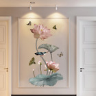 Lotus Flower Chinese Calligraphy Wall Stickers Vinyl Decal Home Decor Art Murals