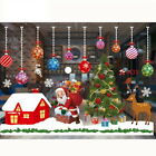Christmas Window Stickers Xmas Santa Removable Art Decal Wall Home Shop Decor Zm