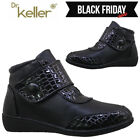 'Ladies Wedge Soft Touch Chelsea Snow Winter Warm Comfort Ankle Boots Shoes Size
