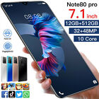 7 In Dual Sim Quad Core Android10.0 Smartphone 12g+512g Unlocked Mobile Phone Uk