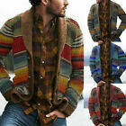 CARDIGAN AUTUMN WINTER DURABLE STRIPE KNITTED JACKET Long SLEEVE COAT OPEN FRONT