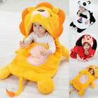 Winter Baby Boys Girls Thickened Solid Cotton Baby Sleeping Bag In Animal Shape
