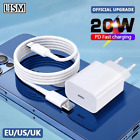 20W PD USB C Charger Fast Wall Charger Adapter For iPhone 12 Pro Max 11 XS XR