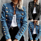 US Womens Long Sleeve Jacket Denim Coat Party Club Overcoats Tops Baggy Cardigan