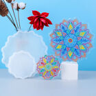 Flower Silicone Coaster Tray Mat Resin Casting Mold Epoxy Mould Craft Tool DIY
