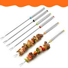 30PCS-BBQ-Barbecue-Stainless-Steel-Grilling-Kabob-Kebab-Flat-Skewers-Needle-24CM