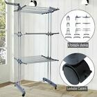 High Quality 3 Tier Laundry Cloth Storage Drying Rack Portable Folding Hanger