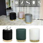 Home Modern Round Velvet Storage Ottoman Foot Rest Stool/Seat with Lid Cover