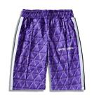 New check Palm Angel Letter flocking striped Hip Hop running shorts Men Women