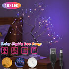 LED Tabletop Tree Lamp Fairy Light Battery/USB Operated Home Decor Touch Control