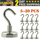 48lb Magnetic Hooks Heavy Duty Magnet Hook With Strong Neodymium Powerful 10-20x