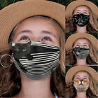 Kids Toddler 3d Cat Face Mask Reusable Washable Protection Cover Breathable Mask