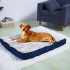 Square Massage Orthopedic Dog Bed Mattress Full Plump Cushion Mat Bed Waterproof