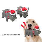 CC_ Dog Puppy Cartoon Xmas Pig Squeeze Screaming Anti Bite Teeth Grinding Pet