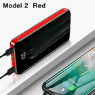 900000mAh 2USB Backup External Battery Power Bank Pack Charger for Cell Phone US