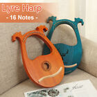 16 String Lyre Harp Solid Mahogany Tuning Wrench Wooden Musical Instrument Gift