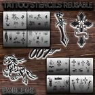 Airbrush Tattoo Stencils REUSABLE EMBLEMS New u