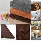 All Size Pet Cat Dog Puppy Warm Blanket Cotton Wool Soft Bed Mat Washable R
