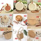 Handmade Women Straw Rattan Beach Bag Crossbody Shoulder Handbag Summer  R
