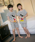 Set of Kid Sleepwear Stripes Mice Boy Girl Nightwear T-Shirt Shorts Size 8-16
