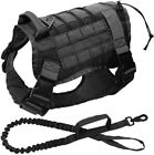 Tactical Dog Harness with Handle/Leash Large Military Dog Vest  Working Dog
