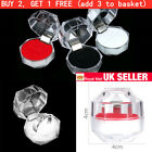 Uk Jewelry Package Ring Earring Box Acrylic Transparent Packaging Jewelry Box
