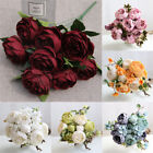 13/10 Heads Artificial Peony Flowers Silk Peony Wedding Bouquet Home Party Decor