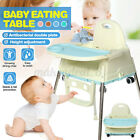 Adjustable Baby High Chairs With Tray Highchair Feeding Dining Table Pla