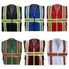 Varieties Of Color Safety Vests Reflective High Visibility Mesh with Pockets